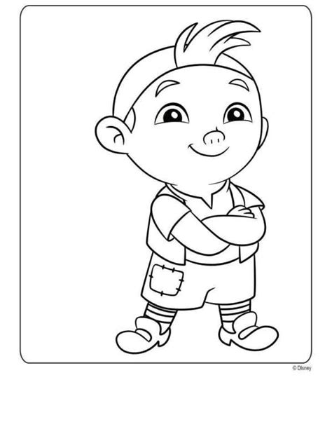 free coloring pages of jake the neverland