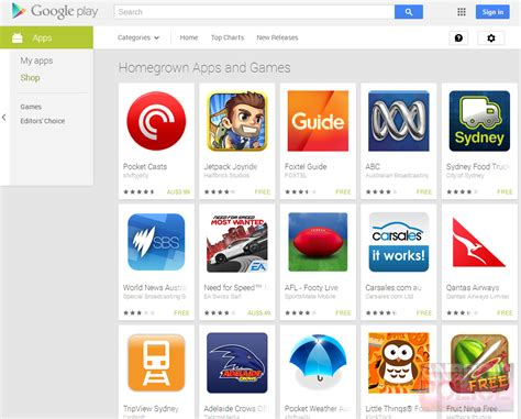 play store gets quot made in australia quot category to show
