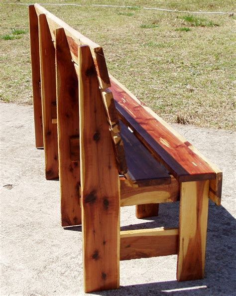 cedar bench handcrafted garden bridges featured on comcast cable