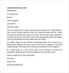 landlord template letters landlord reference letter 6 free documents in