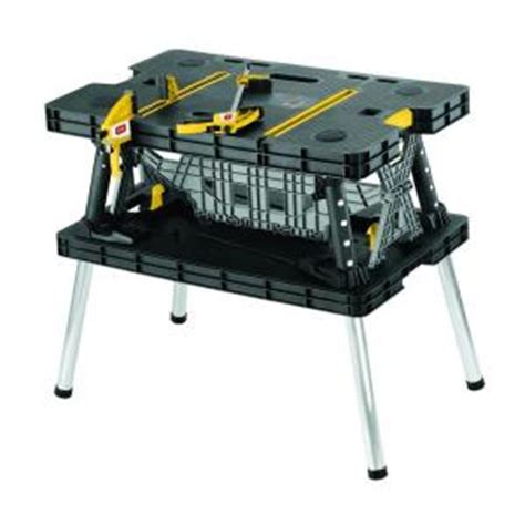 keter folding work bench keter 21 65 in x 33 46 in x 29 7 in folding work table