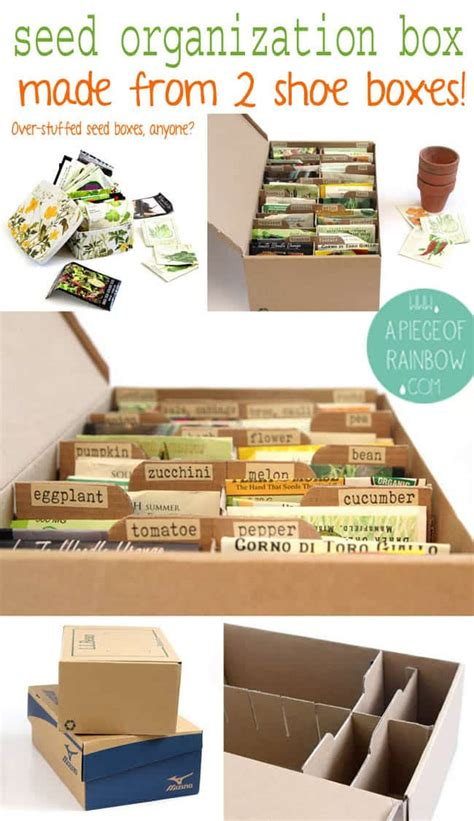 how to make shoe boxes for storage make a seed box from upcycled shoe boxes a of rainbow