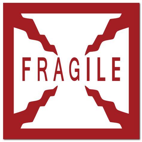 01 Fragile Sticker Label Stiker fragile sticker empat sticker