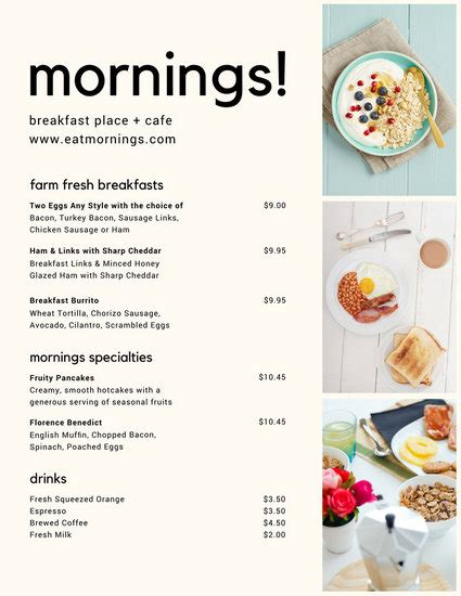 cover layout of continental breakfast modern continental breakfast menu templates by canva
