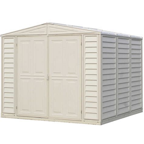 8x8 Vinyl Shed duramax 8x8 duramate vinyl shed with foundation 00384 free shipping