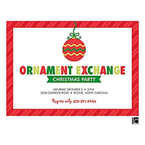 ornament exchange poem ornament gift exchange invitations 2018