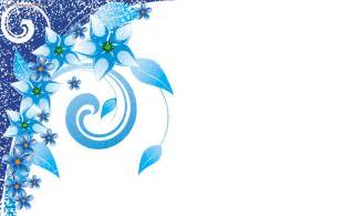 ice blue flowers and swirls backgrounds for presentation