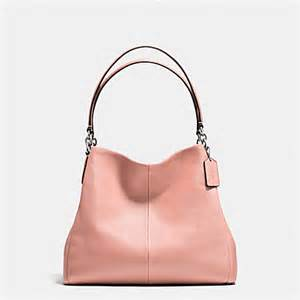 blush colored purses coach f35723 phoebe shoulder bag in pebble leather
