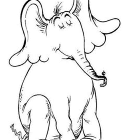 coloring pages horton the elephant dr seuss horton hears a who sketch coloring page