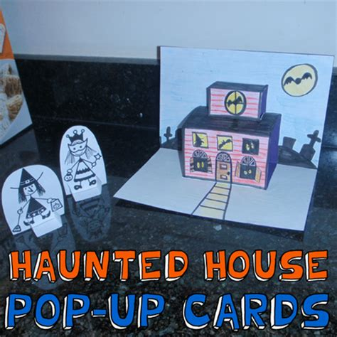 How To Make A Haunted House Out Of Paper - how to make haunted house pop up cards for