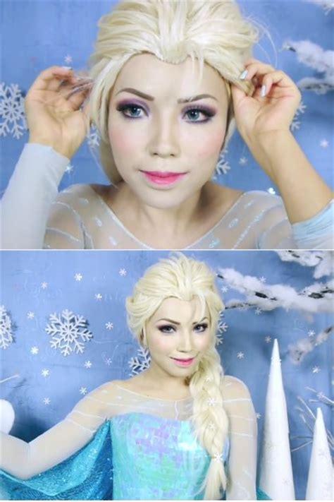 tutorial gaya rambut elsa frozen foto tutorial make up ala ratu elsa frozen