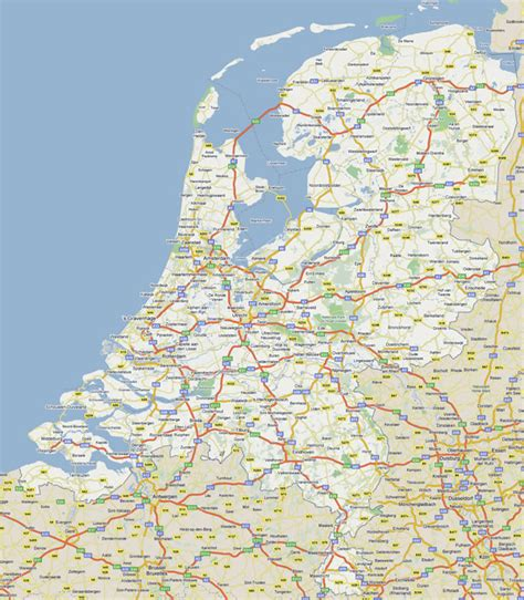 netherlands large map large road map of netherlands with all cities vidiani