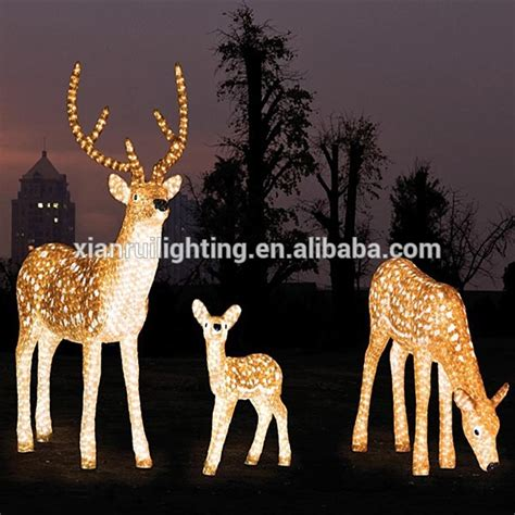 led acrylic lighting outdoor led deer christmas reindeer