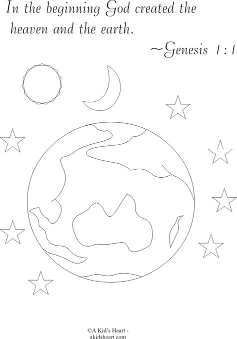 Genesis 1 Coloring Page by Free Coloring Pages Of Genesis 1 1
