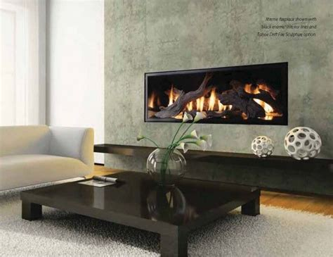 Linear Fireplace Designs by Linear Fireplace With Driftwood Fireplace Design Ideas