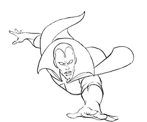 Free Coloring Pages Of Vision Marvel Vision Coloring Page
