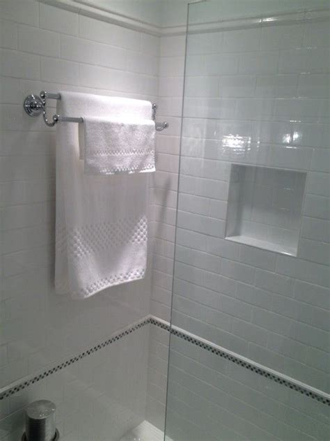 In Shower Towel Rack by Courthouse Contractors Bathrooms Shower Niche Towel