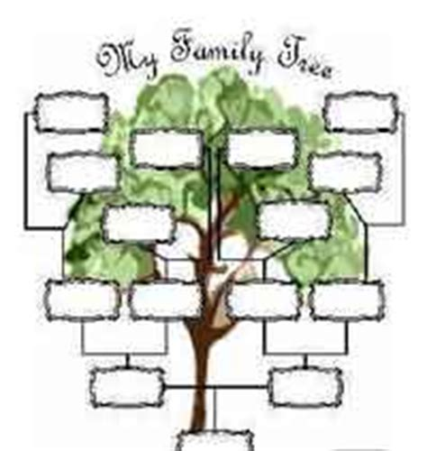 family tree portrait template 50 free family tree crafts patterns at allcrafts
