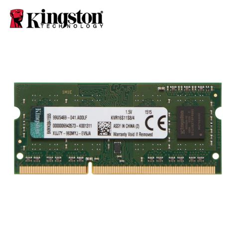 Ram Laptop Ddr3 8gb Kingston aliexpress buy kingston notebook laptop memory ram ddr3 4gb 8gb 1600mhz 204 pin sodimm non