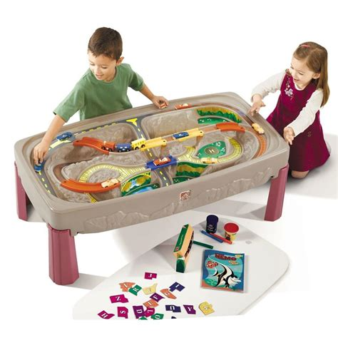 and track table step2 deluxe road and track table 754700