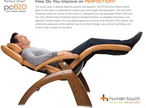 human chair pc 610 omni motion human touch zero gravity