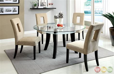 glass topped kitchen tables grandam i contemporary espresso casual dining set with