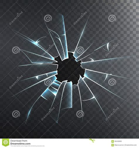 how to rejoin broken glass broken frosted glass realistic icon cartoon vector