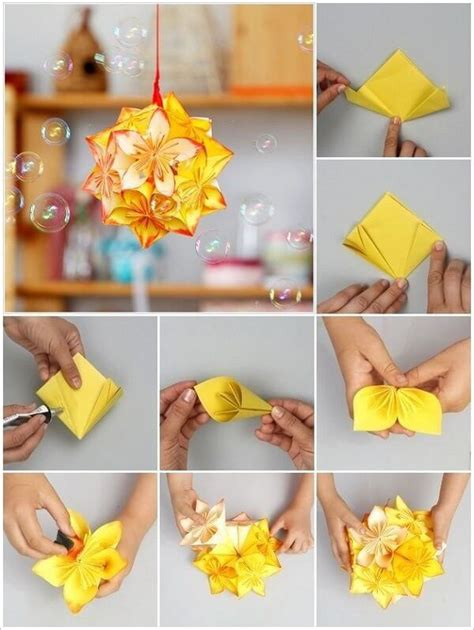 Steps To Make A Paper Flower - diy origami flowers step by step tutorials k4 craft