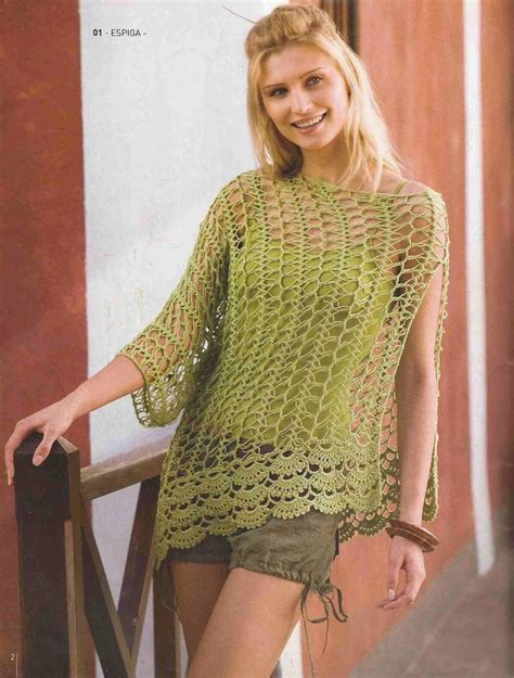 pinterest filet crochet blouses 31 blusa calada verde a crochet o ganchillo ropa a