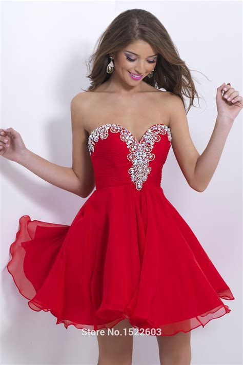 sweetheart prom dresses 2015 sexy red sweetheart chiffon short prom dresses 2015