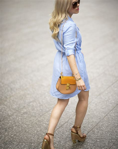 The Blue River Shirt Bombboogie chambray shirt dress