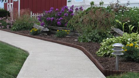 Landscape Edging Using Wood Brown Landscape Edging Looking Wood Edging