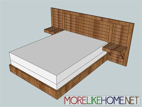 diy bed frame plans ana white 2x4 simple modern bed diy projects