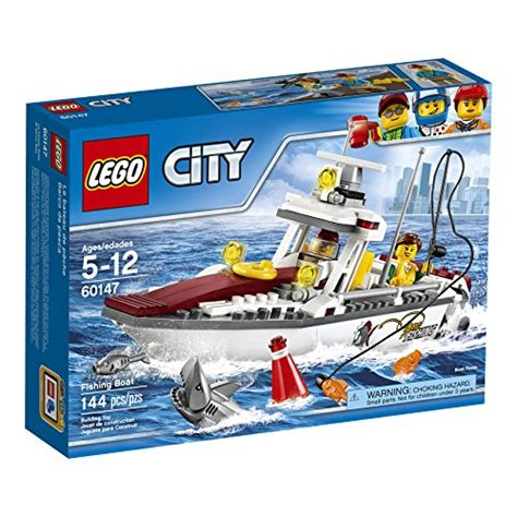 lego city fishing boat 60147 creative play toy fishing boat kamisco