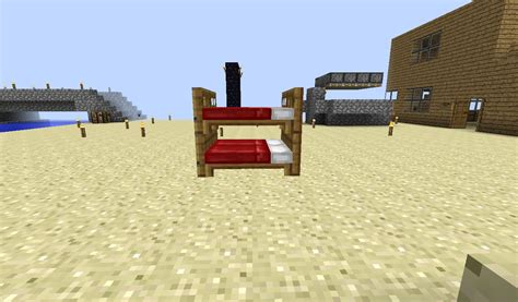 bed in minecraft bunk bed minecraft bunk beds minecraft project