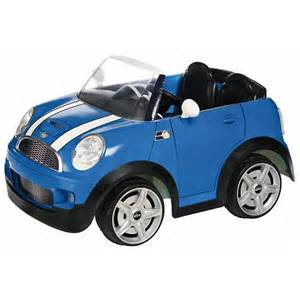 12v Mini Cooper Mini Cooper Car 12 Volt Powered Ride On Blue Toys Quot R Quot Us