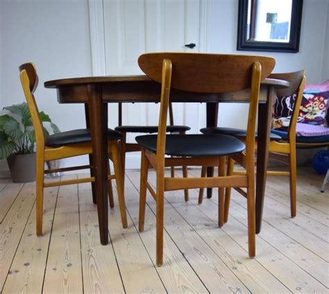 Beech Dining Room Furniture Teak And Beech Dining Chairs 1960s For Sale At 1stdibs