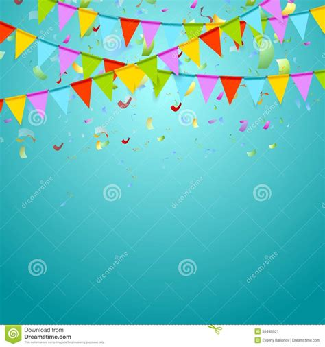 party background design download party flags colorful celebrate abstract background stock