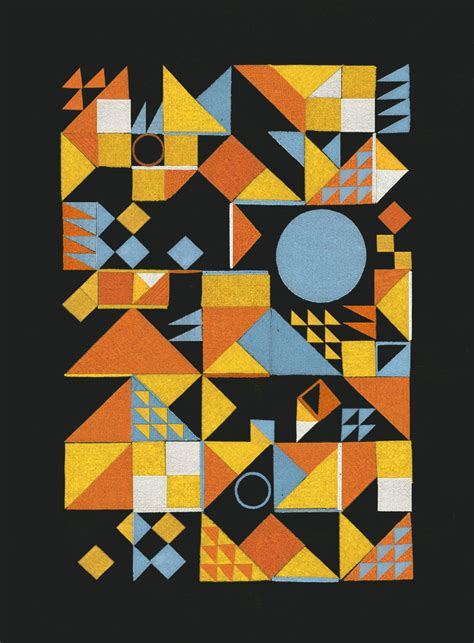 Shape Pattern Collage | shape art lumiko art shape collage i creative