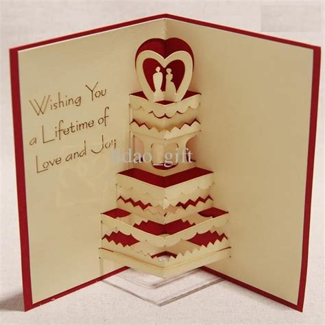 3d Wedding Card Template by Gallery For Gt How To Make Handmade 3d Greeting Card