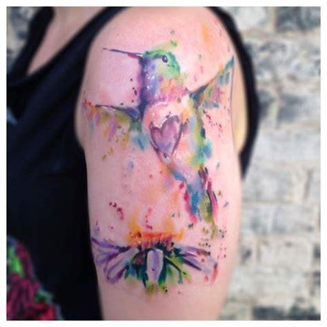 watercolor tattoos ontario beautiful watercolor hummingbird