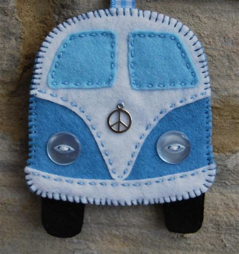 Felt Vw Pattern | sew a felt cervan decoration by snuginadub craftsy