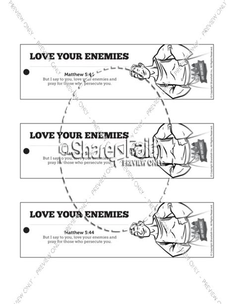 matthew 5 love your enemies bible bookmarks bible bookmarks