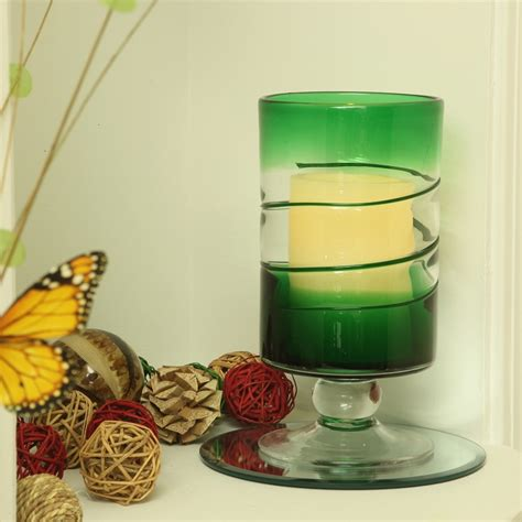 hurricane ls with flameless candles venezia glass hurricane with flameless candle pacific
