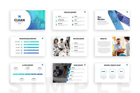 18 minimalist powerpoint templates clean simple