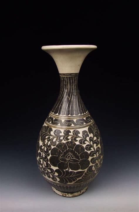 Porcelain Vase Song Dynasty Cizhou Kiln Black Coloring Flower Porcelain