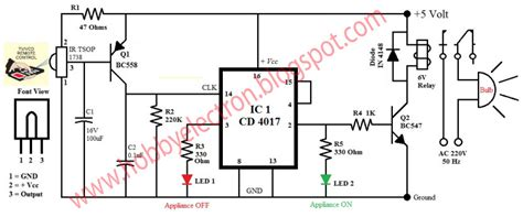 remote light switch circuit diagram hobby in electronics ir remote home appliance