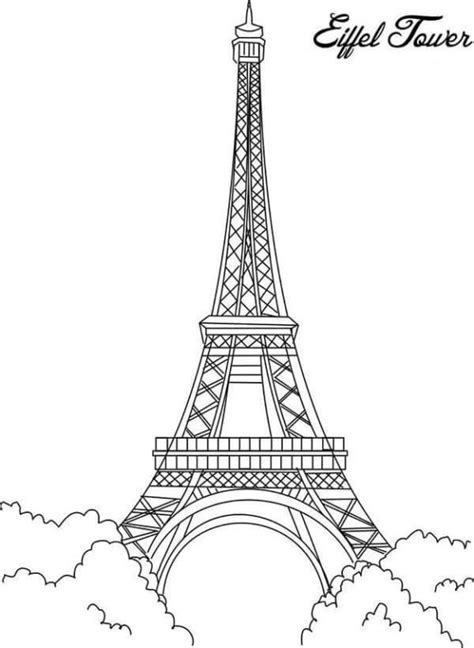 coloring page of eiffel tower coloring pages eiffel tower mandala coloring 101