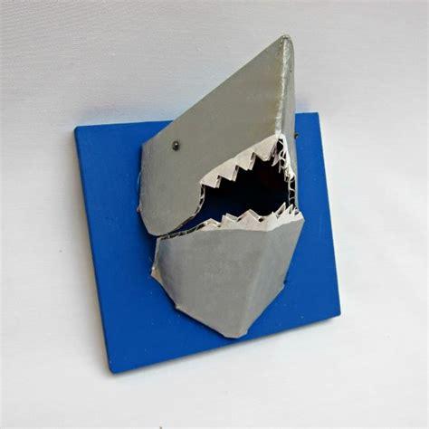 card board shark template tutorial shark jewelry holder 187 dollar store crafts
