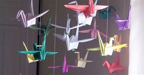 custom origami paper crane mobiles decor when to